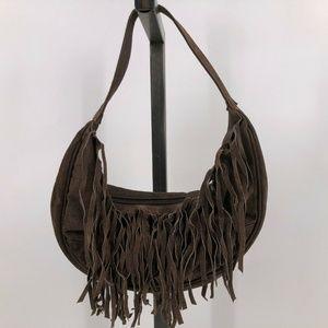 Wilsons Leather brown Western Hobo Fringe purse